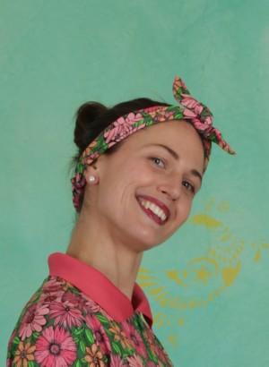 Haarband, Rexi Head, flower-multi