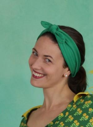 Haarband, Dorothy Head, green-stripes