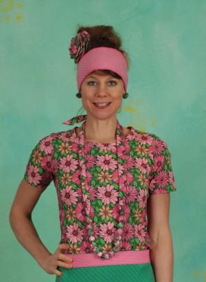 Kette, Rexi Pearls, flower-multi