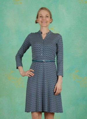 Kleid, Archive Belted, leia-blue