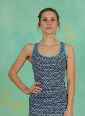 Top, Archive Vest, leia-blue