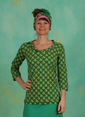 Bluse, Fieldarella, flower-green