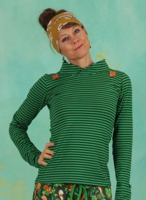 Bluse, BL-3185, green-stripes