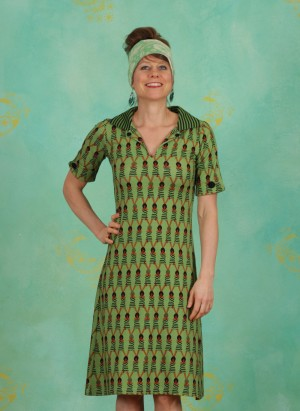 Kleid, Moonwalkers Delight, green-multi