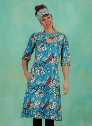 Kleid, DRE-01117, blue-multi