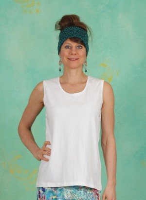 Top, Dafni Jersey, white