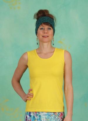 Top, Dafni Jersey, yellow