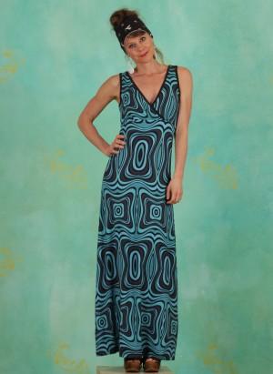 Kleid, LASU2120, black-turquoise