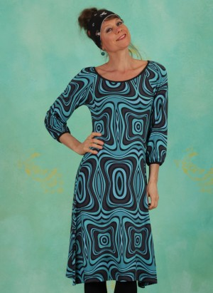 Kleid, LASU2121, black-turquoise