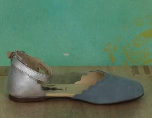 Schuhe, Megs, paleblue-silver