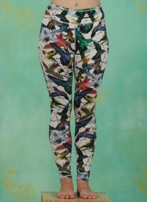 Leggins, Printed Tencel Legging, kolibri