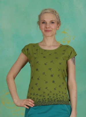 Shirt, Michelle, turtle-green-floral
