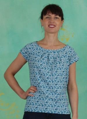 Shirt, S20C08, blue-white