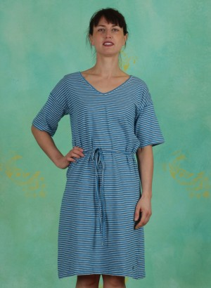 Kleid, S20E34, blue-stripes