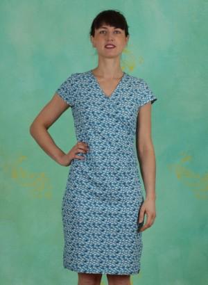 Kleid, S20E38, blue-white