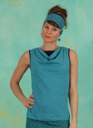 Top, S21C48, turquoise