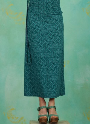 Rock / Kleid, S21F18, turquoise-blue