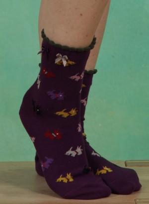Strümpfe, Scottie Ankle, purple