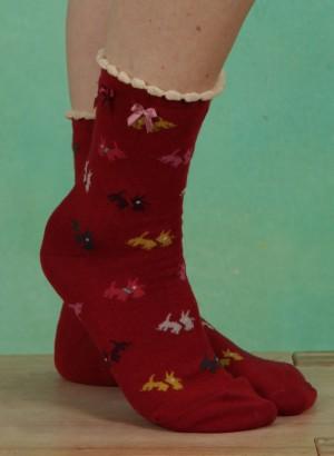 Strümpfe, Scottie Ankle, red