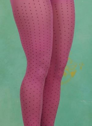Strumpfhose, Polka Pink, multi