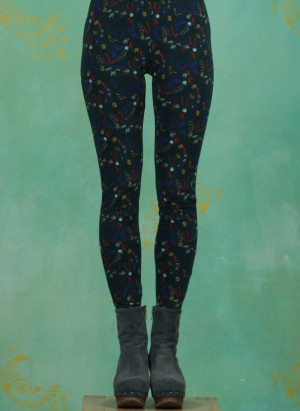 Leggins, W20G09, green-multi