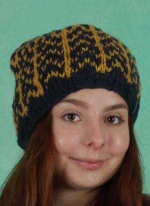 Mütze, W20M04, blue-yellow