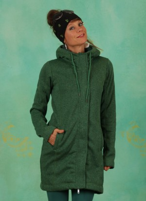 Fleece-Mantel, W21A17, green