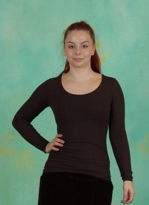 Shirt, Z0001, dark-brown