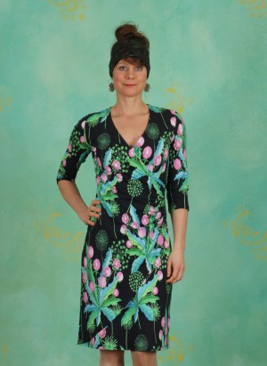 Kleid, BA ¾, dandelion-black