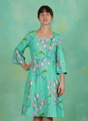 Kleid, Brest, dandelion-jade