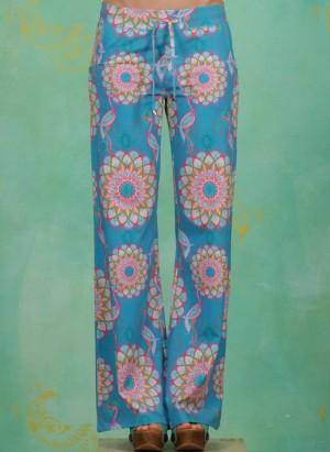 Hose, Biaritz, mandala-turquoise