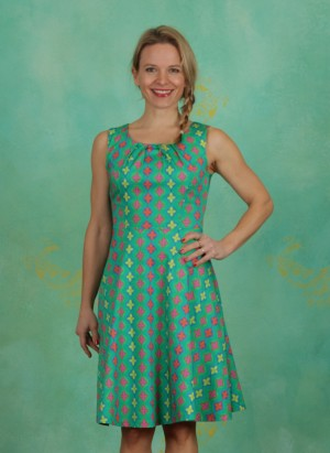 Kleid, Dee, retro-green