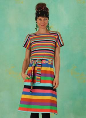 Kleid, DRE-01227, multi-stripes