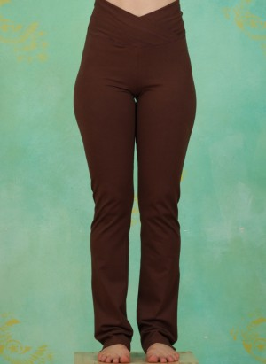 Hose, Roll Over Pants, cherry-brown