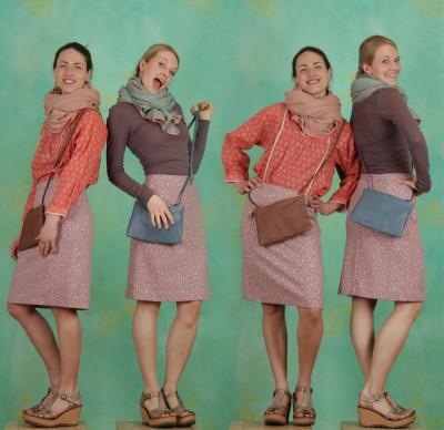 Noa Noa - Frühling - Tasche, Color Ring Cross Bag, rustic